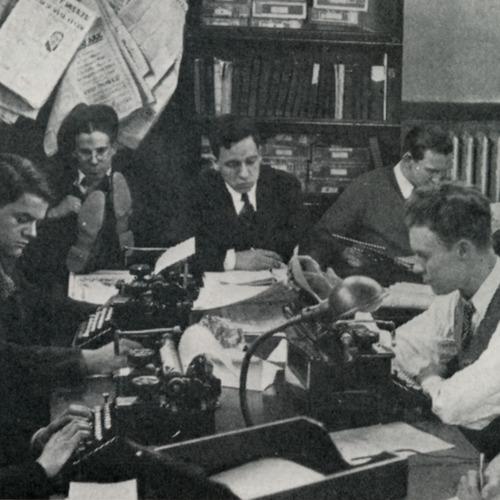 Loyola News staff at work
