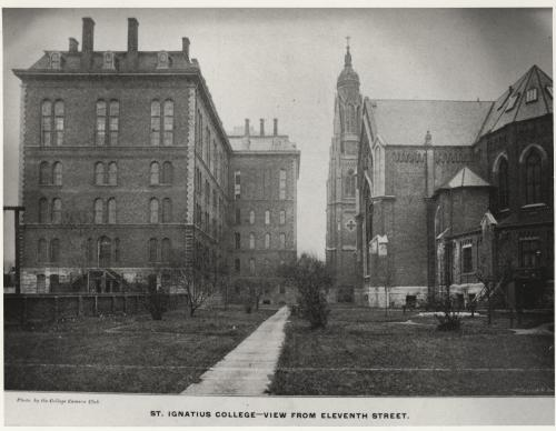 An exterior view of St. Ignatius College from 11th street